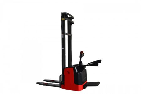Forklift Stacker Power Pallet Stacker 1.5T-2.0T Lifting 1.6-5 Mtr With 24V 210AH Battery 3 tbm_